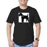 Fox Terrier Breast Cancer Sup Men's Fitted T-Shirt