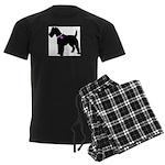 Fox Terrier Breast Cancer Sup Men's Dark Pajamas