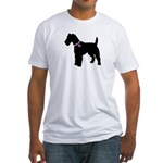 Fox Terrier Breast Cancer Sup Fitted T-Shirt