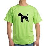 Fox Terrier Breast Cancer Sup Green T-Shirt