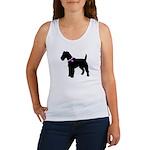 Fox Terrier Breast Cancer Sup Women's Tank Top