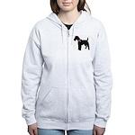 Fox Terrier Breast Cancer Sup Women's Zip Hoodie