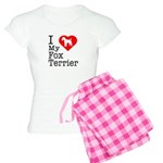 I Love My Fox Terrier Women's Light Pajamas