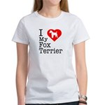 I Love My Fox Terrier Women's T-Shirt