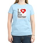 I Love My Fox Terrier Women's Light T-Shirt