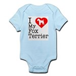 I Love My Fox Terrier Infant Bodysuit
