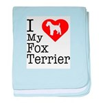 I Love My Fox Terrier Infant Blanket