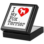 I Love My Fox Terrier Keepsake Box