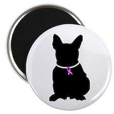 French Bulldog Breast Cancer Magnet