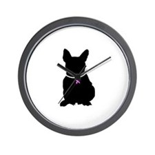 French Bulldog Breast Cancer Wall Clock