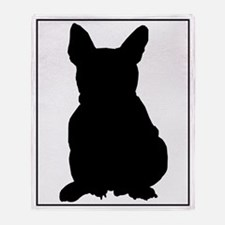 French Bulldog Silhouette Throw Blanket