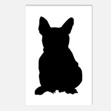 French Bulldog Silhouette Postcards (Package of 8)