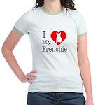 I Love My Frenchie Jr. Ringer T-Shirt