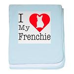 I Love My Frenchie Infant Blanket