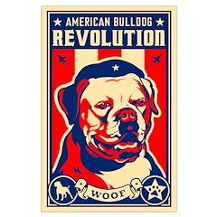 American Bulldog Large Propaganda Poster