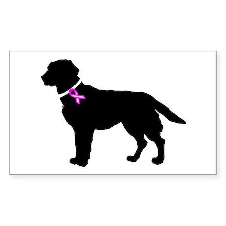 Labrador Retriever Breast Can Sticker (Rectangle)