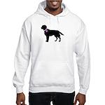 Labrador Retriever Breast Can Hooded Sweatshirt