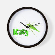 Katy Did? Wall Clock