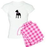 Pitbull Terrier Breast Cancer Women's Light Pajama