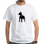 Pitbull Terrier Breast Cancer White T-Shirt