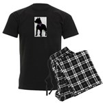 Pitbull Terrier Breast Cancer Men's Dark Pajamas