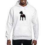 Pitbull Terrier Breast Cancer Hooded Sweatshirt