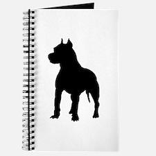 Pitbull Silhouette Journal