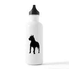 Pitbull Silhouette Water Bottle