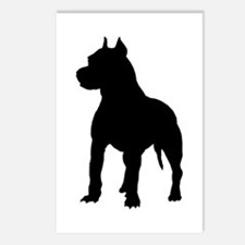 Pitbull Silhouette Postcards (Package of 8)