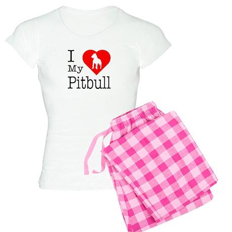 I Love My Pitbull Terrier Women's Light Pajamas