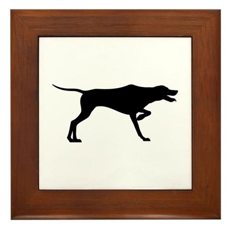 Pointer Silhouette Framed Tile