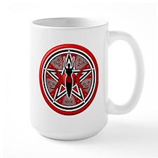 Red-Silver Goddess Pentacle Mug
