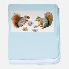 Squirrels Tea Party baby blanket
