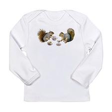 Squirrels Tea Party Long Sleeve Infant T-Shirt