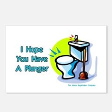 Hope You Have A Plunger Postcards (Package of 8)
