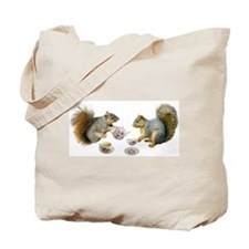 Squirrels Tea Party Tote Bag