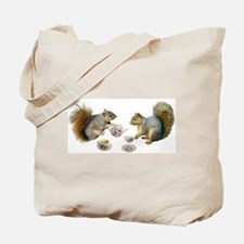 Squirrels Tea Party Tote Bag