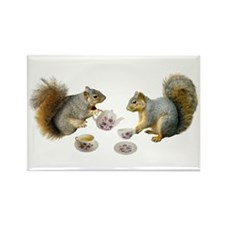 Squirrels Tea Party Rectangle Magnet