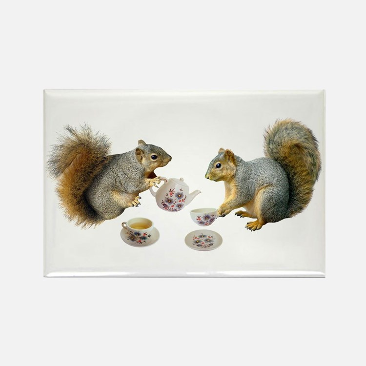 Squirrels Tea Party Rectangle Magnet