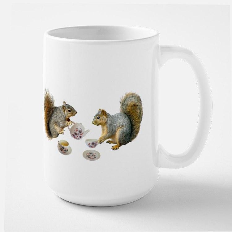 Squirrels Tea Party Large Mug