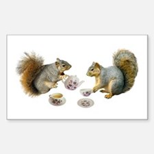 Squirrels Tea Party Decal