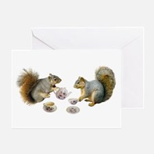 Squirrels Tea Party Greeting Card