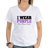 Pancreatic cancer Womens V-Neck T-shirts