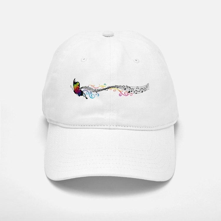 Butterfly Music Baseball Baseball Cap