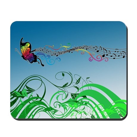 Butterfly Music Mousepad