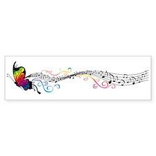 Butterfly Music Bumper Bumper Sticker