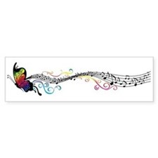 Butterfly Music Bumper Sticker