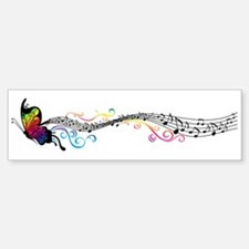 Butterfly Music Bumper Stickers