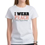 Custom Uterine Cancer Women's T-Shirt