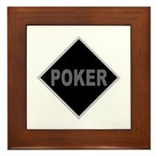 """Poker"" Framed Tile"